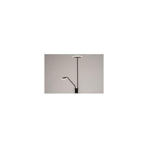 Lumidora Stehleuchte Modern Kunststoff Kunststoffglas Metall Schwarz Matt Rund 74216