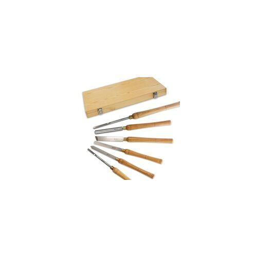 BAMATO HSS-Drechseleisen 6-teilig in Holzbox