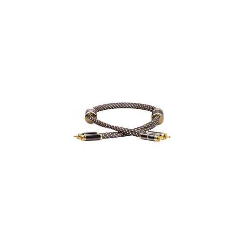 Dynavox Verstärker Kabel Netzfilter Stromfilter Dynavox Black Line Cinchkabel 0,6m