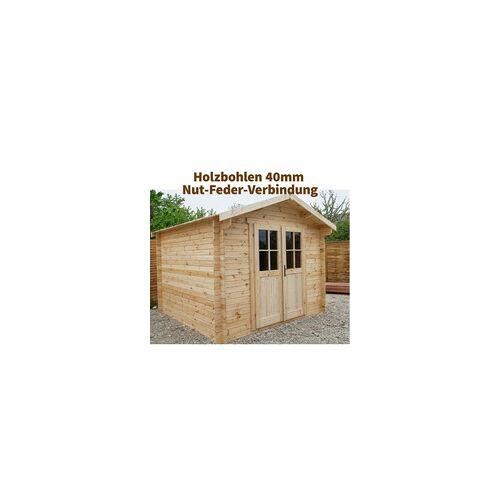 Gardy Shelter Massivholz-Gartenhaus 9m² Plus 40mm von Gardy Shelter