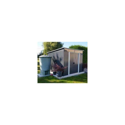X-Metal Gartenhaus aus Metall 6,67m² Skylight anthrazit + Verankerungskit X-METAL