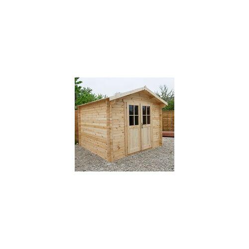 Gardy Shelter Gartenhaus aus Massivholz 9m² PLUS Holzbohlen 28mm Gardy Shelter