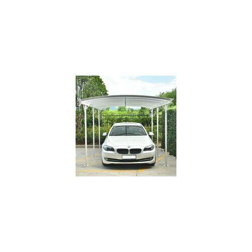 X-Metal Carport aus Aluminium weiß 3x5,76m & Polycarbonat 6mm X-METAL
