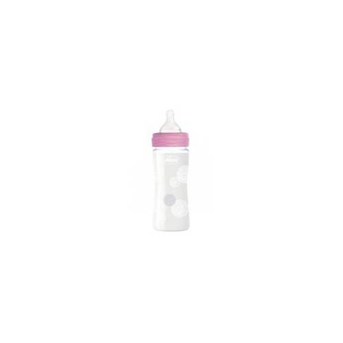Chicco Babyflasche 240ml Slow Flow Pink Glas
