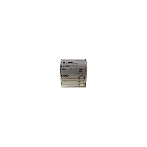 EXiM Reifen Einlagerung Etikett Einlagerungslabel 100 Stück auf Rolle