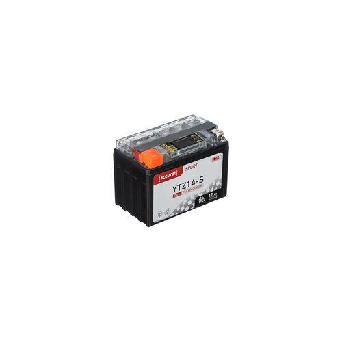 Accurat Sport GEL LCD YTZ14-S Motorradbatterie 12Ah 12V (DIN 51101) YTZ14S YTZ14S-BS YG14ZS