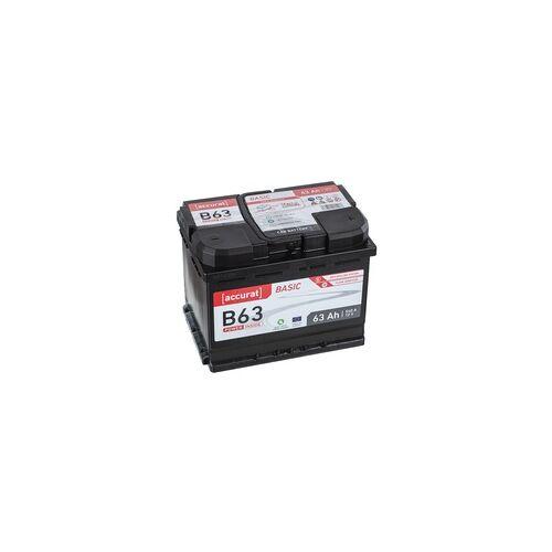 Accurat Basic B63 Autobatterie 63Ah