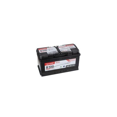 Accurat Basic B100 Autobatterie 100Ah