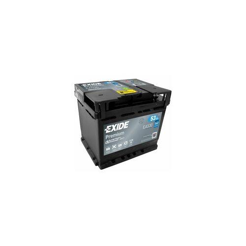 Exide EA530 Premium Carbon Boost 53Ah Autobatterie