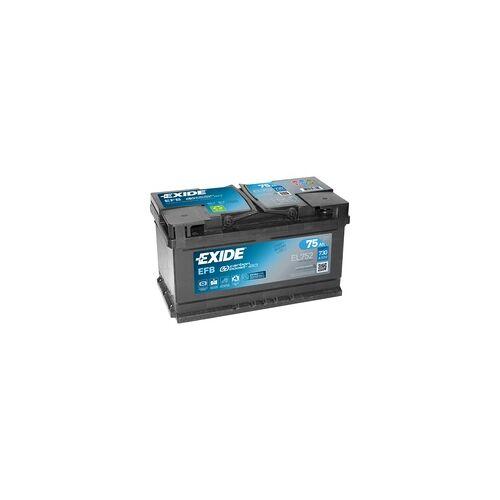 Exide EL752 12V EFB Autobatterie 75Ah