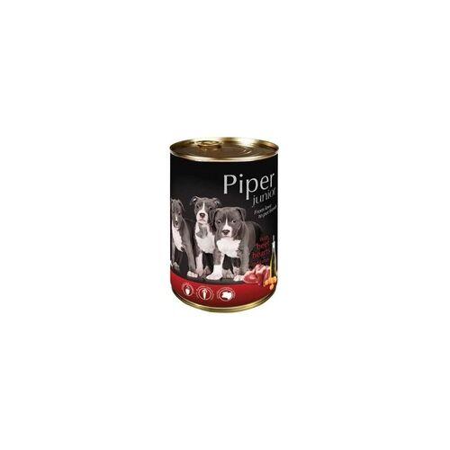 PIPER JUNIOR Rinderherzen & Karotte Nassfutter Hundefutter Dosen (60 x 0,4 kg)