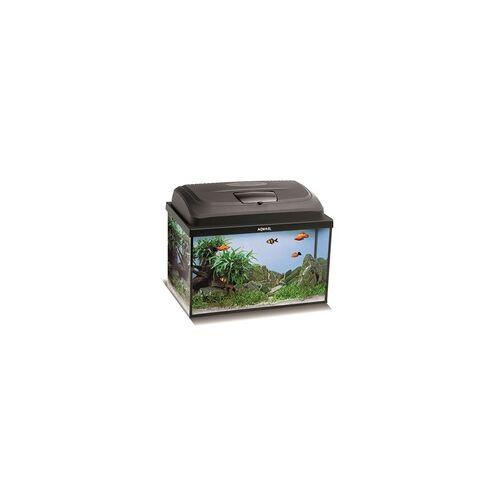 Aquael Aquarium Set CLASSIC LT inkl. Abdeckung, Filter, Heizer, LED Beleuchtung 40x25x25 rechteckig