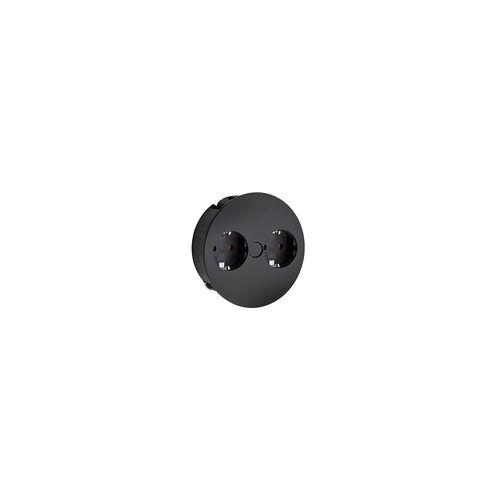 Naber Twist Doppelsteckdose mit Schukosteckdosen, schwarz 7053075