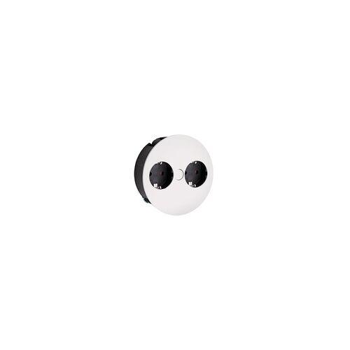 Naber Twist Doppelsteckdose mit Schukosteckdosen, weiß 7053076