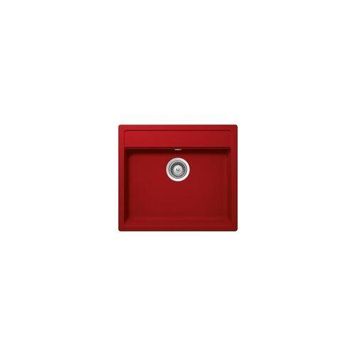Schock Auflage-Einbauspüle Mono N-100 A Rouge inkl. Resteschale