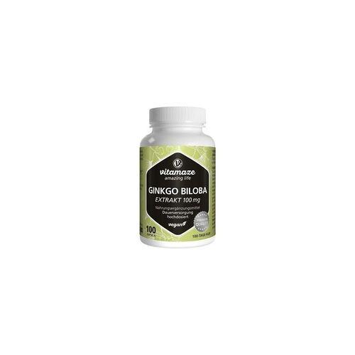 Vitamaze Ginkgo Biloba 100 mg hochdosiert vegan