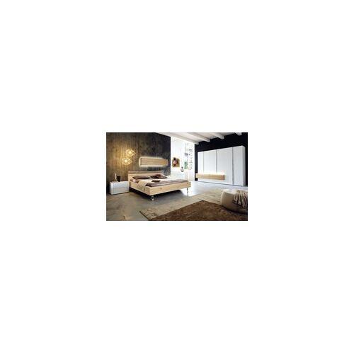 hülsta Schlafzimmer Gentis in weiß/Eiche Naturstamm