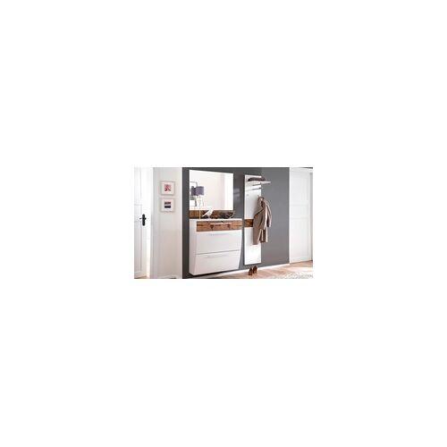 Garderobenkombi 6022 in Lack weiß/Hirnholz Nachbildung