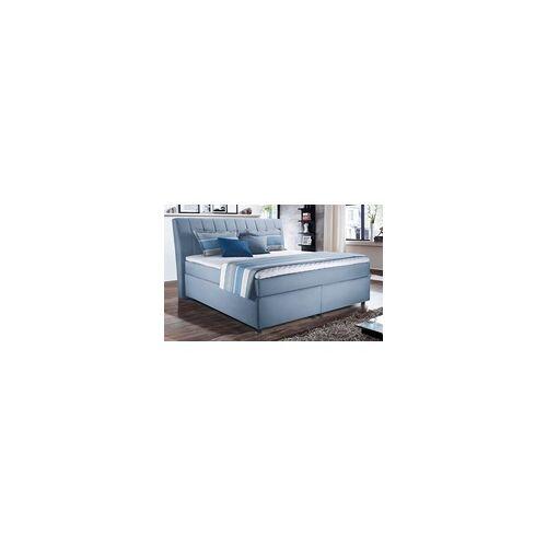 Vito Boxspringbett 4011 in hellblau, ca. 160 x 200 cm