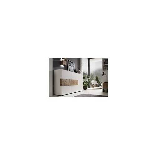 Hartmann Highboard Caya in Mattglas weiß