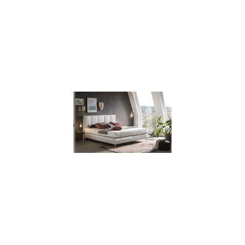 Irisette Boxspringbett Pego in Leder weiß