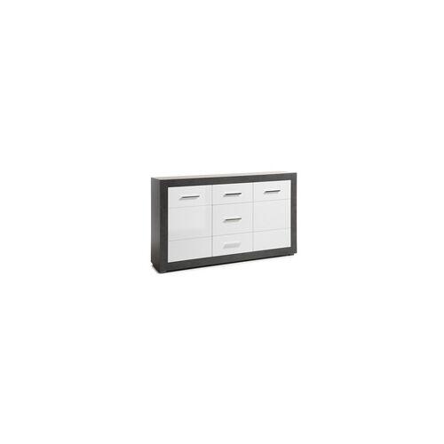 Sideboard Etero in weiß/Beton-Optik