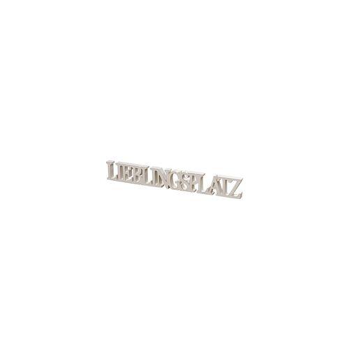"""Boltze Aufsteller """"Lieblingsplatz"""" in weiß, 60 cm"""