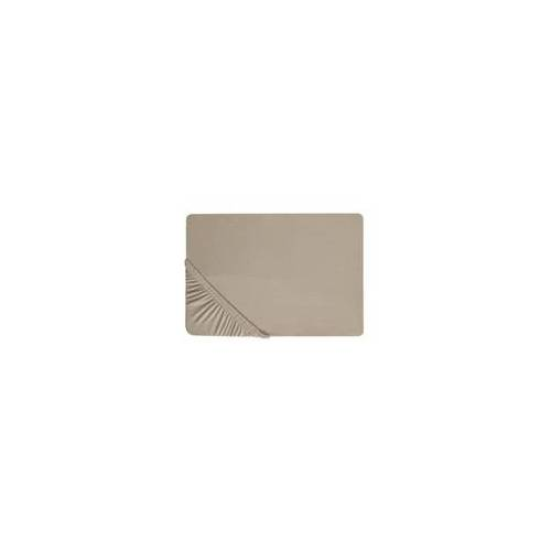 Biberna Boxspring-Spannbetttuch in taupe, 90 x 190 x 25 cm