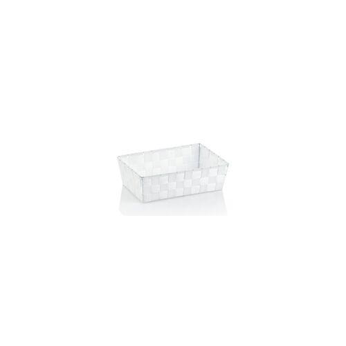 Kela Aufbewahrungskorb Alvaro in weiß, 29,5 x 20,5 cm