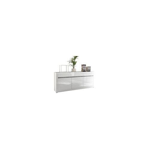 IMV Sideboard Carat in weiß Hochglanz