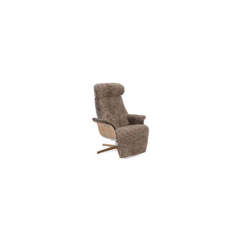 CONFORM Sessel TIMEOUT mit integrierter Fußstütze, Schaffell SAHARA