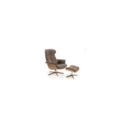 CONFORM Relaxsessel TIMEOUT mit Holz/Alu-Fuß, Schaffell SAHARA