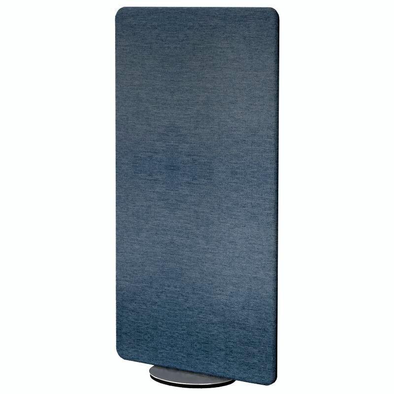 KERKMANN Trennwand, Akustikelement mit Textilbezug in Blau, drehbar