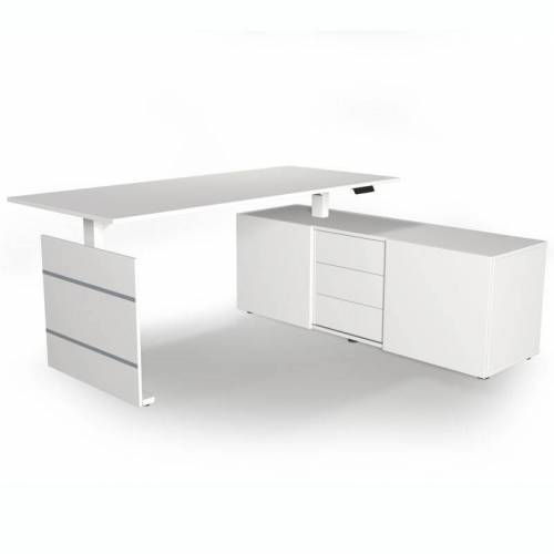 KERKMANN MOVE 3 Schreibtisch mit Sideboard, 180x80cm