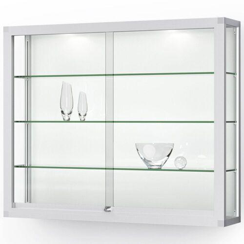 ST VITRINEN VERTUM 100 Wandvitrine mit Glasschiebetüren, b122xh100xt25cm
