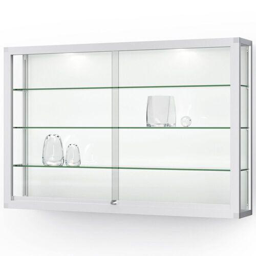 ST VITRINEN VERTUM 100 Wandvitrine mit Glasschiebetüren, b152xh100xt25cm