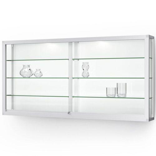 ST VITRINEN VERTUM 100 Wandvitrine mit Glasschiebetüren, b202xh100xt25cm