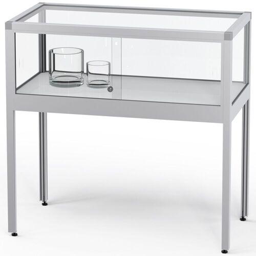 ST VITRINEN VERTUM 220 Thekenvitrine mit Glasschiebetüren, b102xh97xt52cm