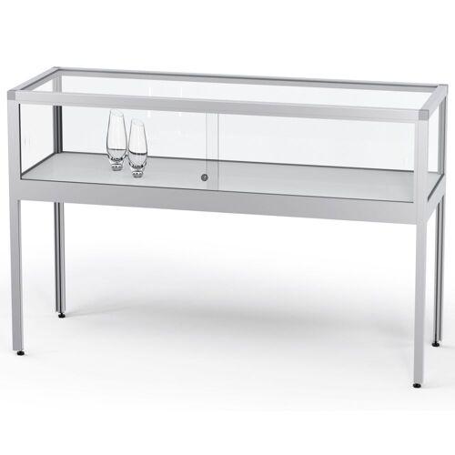 ST VITRINEN VERTUM 220 Thekenvitrine mit Glasschiebetüren, b152xh97xt52cm