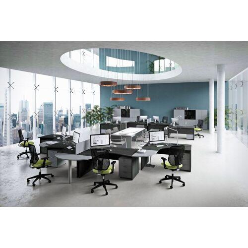 TREND PUR Büromöbel Set, Großraumbüro 8 Arbeitsplätze, 900x900cm