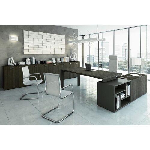 TREND TOWER Büromöbel-Set, Einzelarbeitsplatz mit Sideboard, 450x300cm