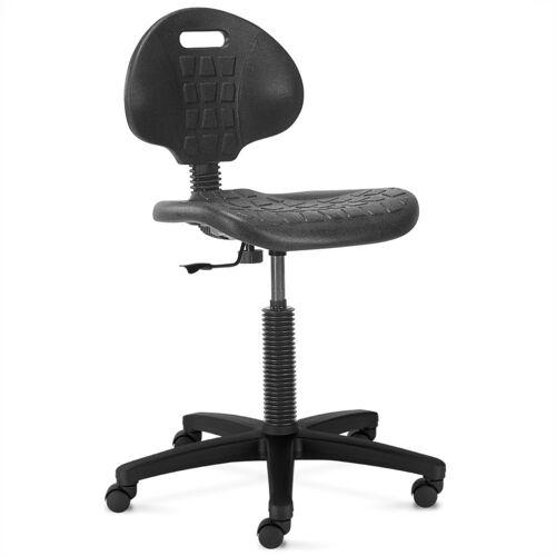 NARGO Werkstatt-Drehstuhl mit Rücken und Sitz aus Kunststoff