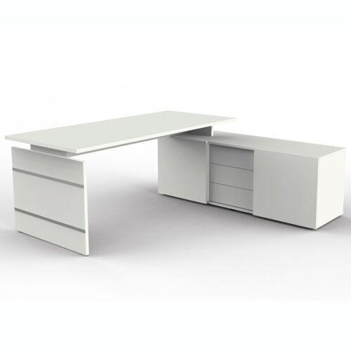 KERKMANN FORM 4 Schreibtisch mit Sideboard, 180x80cm