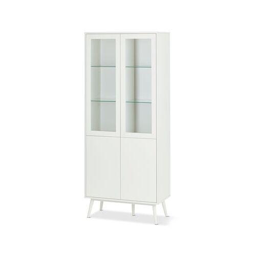2-türige Vitrine mit Glastüren, weiß
