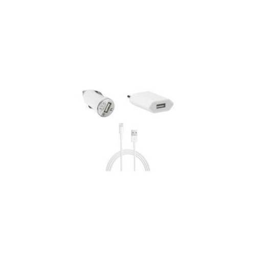 MicroMobile CoreParts Charger set iPhone 5,6,7 white (IPHONE X CHARGER AND LIGHTNING CABLE)