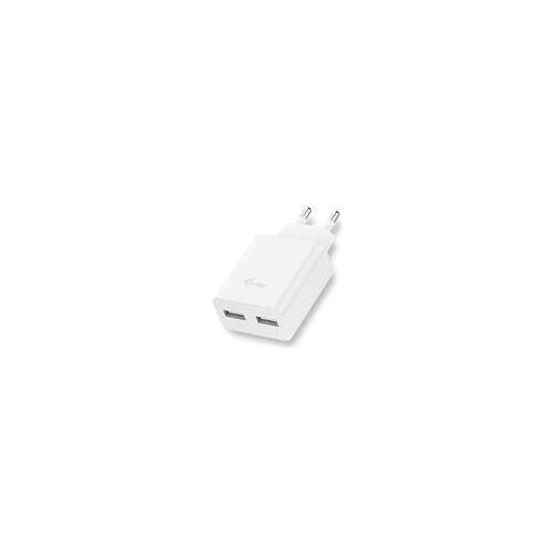 i-tec Netzladegeraet fuer USB Geraete Dual Ladegeraet Adapter 2.4A Weiss auch - Ladegerät (CHARGER2A4W)