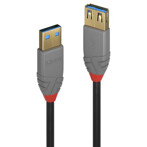 Lindy 3m USB 3.0 Typ A Verlaengerungskabel male female Anthra Line - Kabel - Digital/Daten (36763)