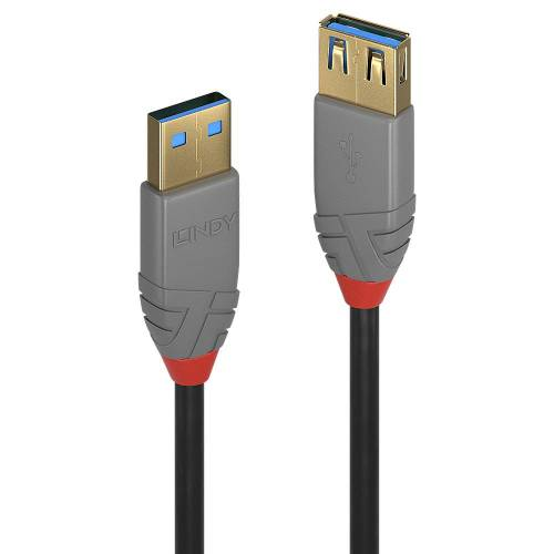 Lindy 2m USB 3.0 Typ A Verlaengerungskabel male female Anthra Line - Kabel - Digital/Daten (36762)