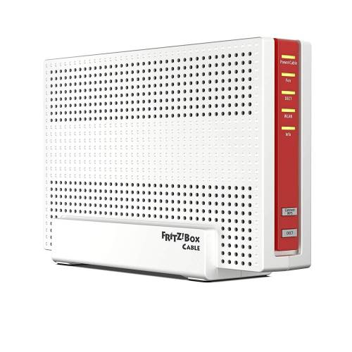 AVM Fritz!Box 6591 Cable WLAN AC + N Router (DOCSIS-3.1-Kabelmodem, Dual-WLAN Ac+N (MU-MIMO) mit 1.733 (5 GHz) + 800 Mbit/S (2, 4 GHz), VoIP-Telefonanlage) (20002857)