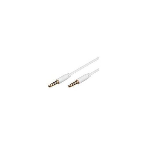 Delock Kabel Klinke 3,5mm ST/ST 4pin IPhone 5,0m weiß Delock (83443)